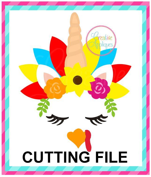 Unicorn Turkey Cutting File SVG DXF EPS | THANKSGIVING SVG CUTTING