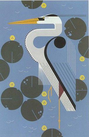 Charley Harper / herondipity / sérigraphie