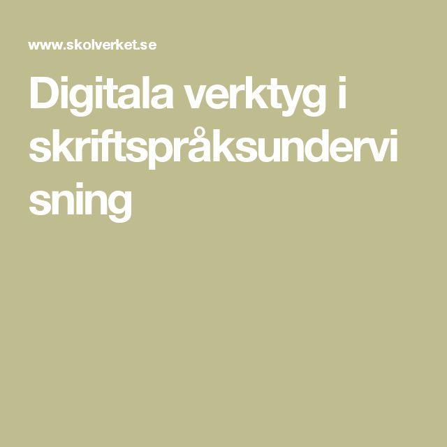Digitala verktyg i skriftspråksundervisning