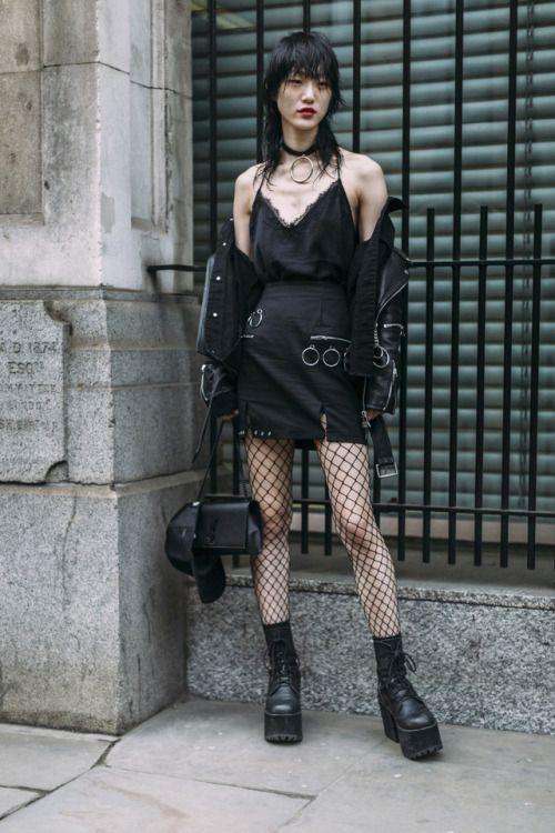 "koreanmodel: ""Street style: Choi Sora at LFW Fall 2017 """