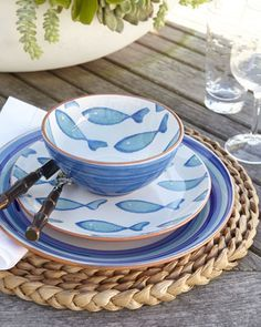 115 Best Home Decor Theme Nautical And Coastal Images On Pinterest & Ocean Themed Dinner Plates | Zef Jam