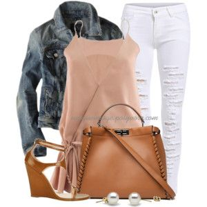 Ripped Jeans, Wedge Sandals