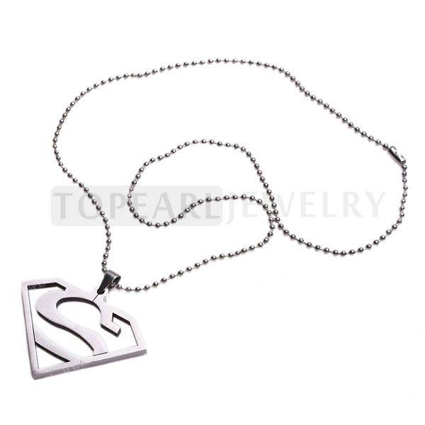 Topearl Ювелирные Изделия Супермен Человек из Стали Superhero Стали Ожерелье MEN44