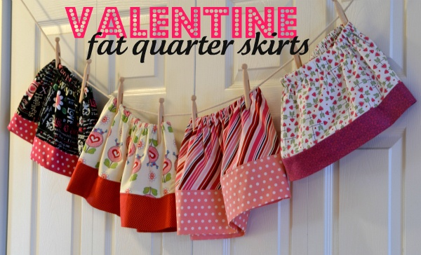 Valentine's Day skirt / outfit made from fat quarters