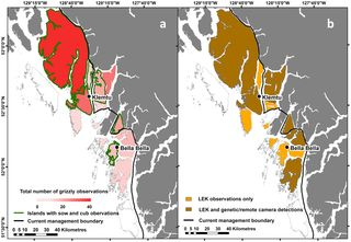 Grizzly Bear activity over the years...movement and expansion of their habitat