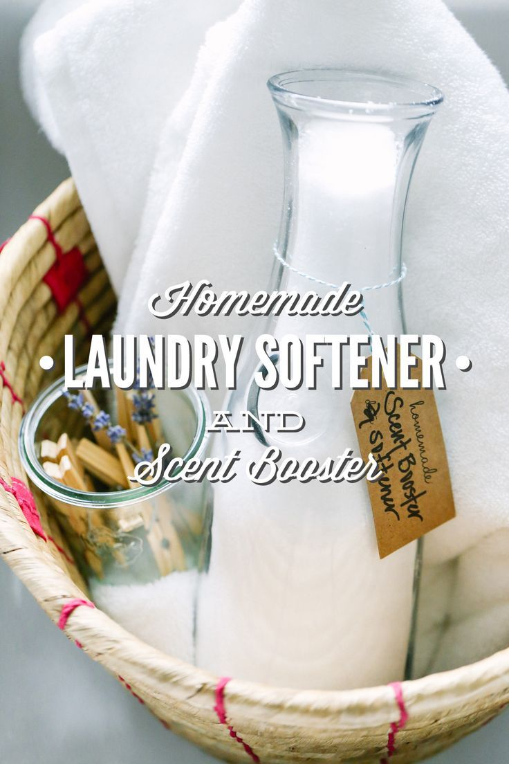 A two-ingredient, homemade fabric softener and scent booster. This stuff is super cheap to make and a great addition to your natural laundry room.