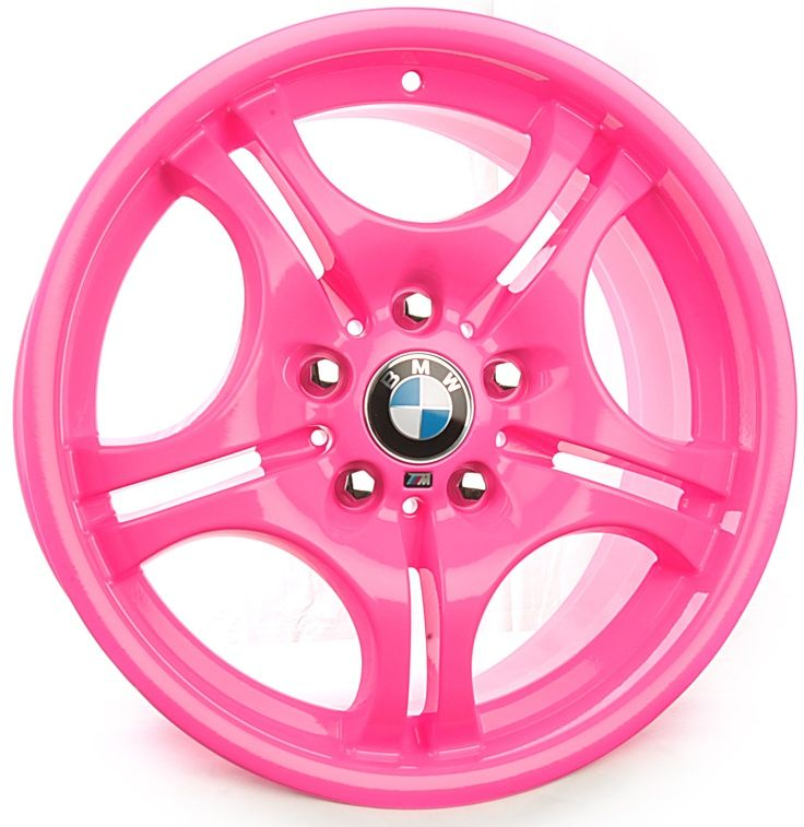 BMW Custom Pink Powder Coat Rims ☆ Girly Cars for Female Drivers! Love Pink Cars ♥ It's the dream car for every girl ALL THINGS PINK!