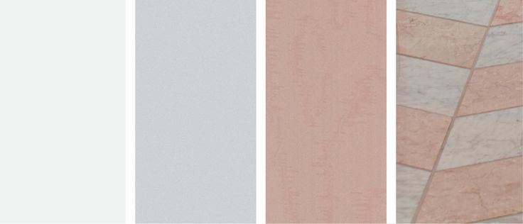 A pink and gray bathroom color palette - design inspiration.