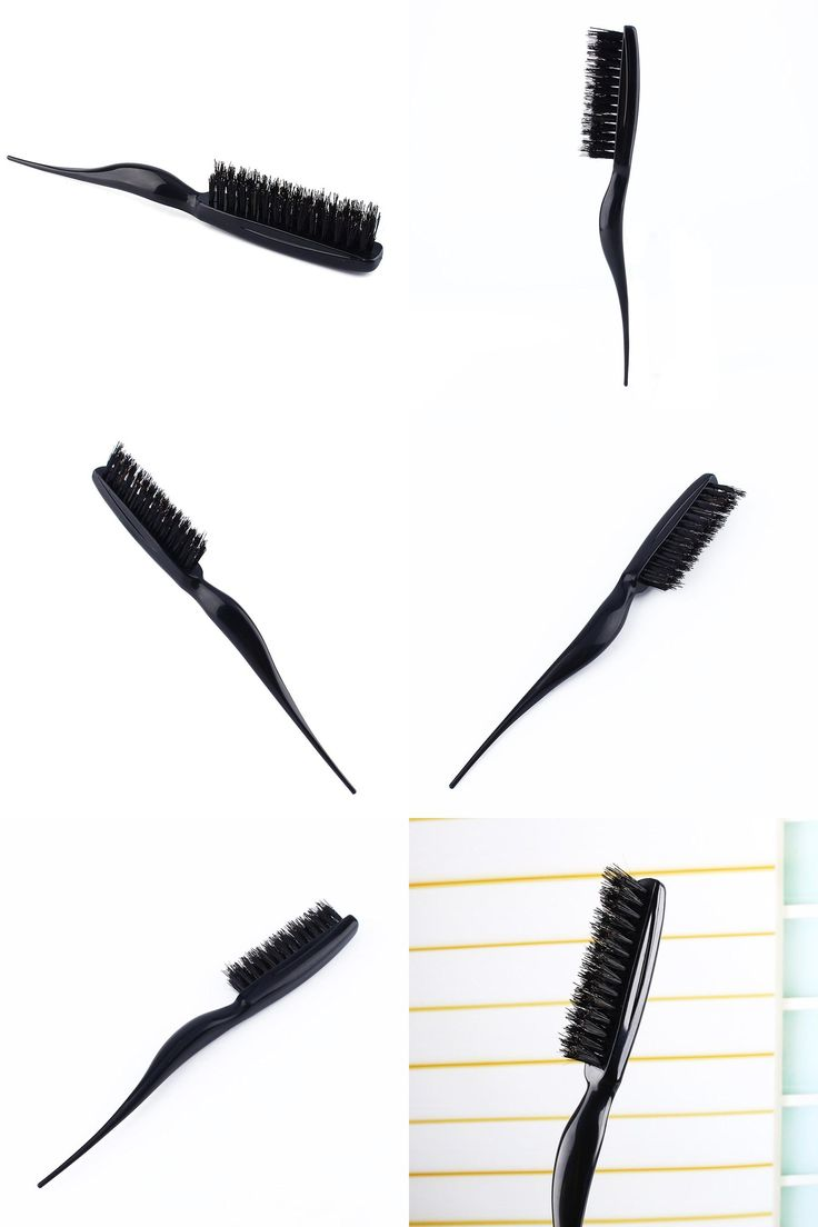 [Visit to Buy] Hair Brush Black Tease Hair Comb Hairdressing Comb Hairdresser Brushes Teasing Back Combing Brushes Slim Line Styling Comb Tools #Advertisement