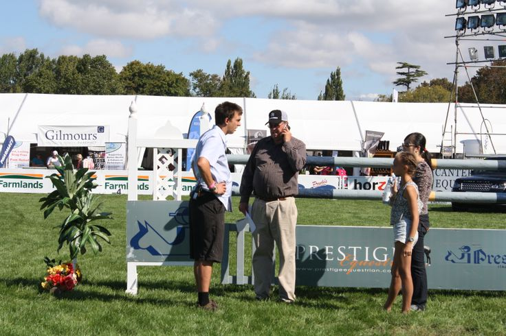 Show director Kevin Hansen, middle, in the Land Rover Premier Arena today