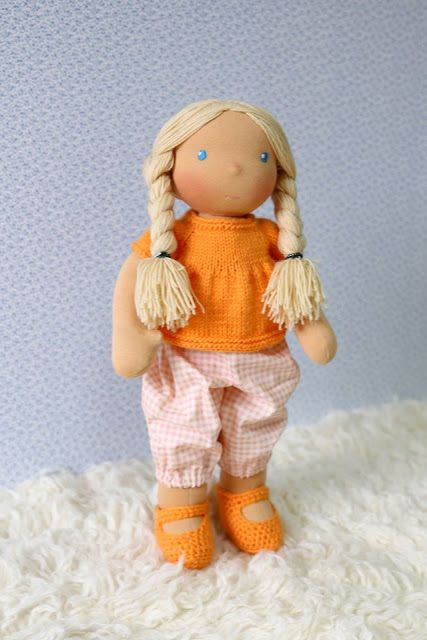 Lalki waldorfskie - LalaBella: Zuzia lubi pomarańcze