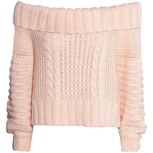 H&M Off-the-shoulder jumper found on Polyvore