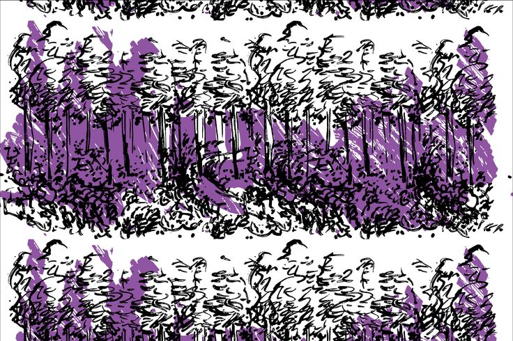 Heidis Blueberry Forest for magnetic wallpapers as a co-operation with Tehosteseinä Oy.