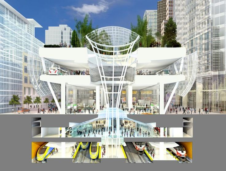 San Francisco's Transbay Center will be the terminus for California's high-speed rail trains from Los Angeles.