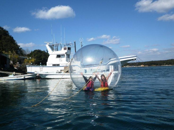 プカプカ 異空間体験 里海ウォーターボール体験 | 三重県の観光体験 TRIP