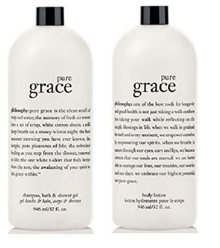 Philosophy Super-size Pure Grace Shampoo, Shower Gel, Bubble Bath & Lotion, 32oz. Each Duo Supersize shampoo, shower gel, bubble bath and lotion .  Read more http://cosmeticcastle.net/philosophy-super-size-pure-grace-shampoo-shower-gel-bubble-bath-lotion-32oz-each-duo/  Visit http://cosmeticcastle.net to read cosmetic reviews