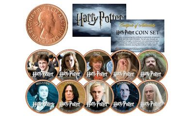 Harry Potter Heroes and Villains UK Legal Tender Collectible Coins (10 Pieces)