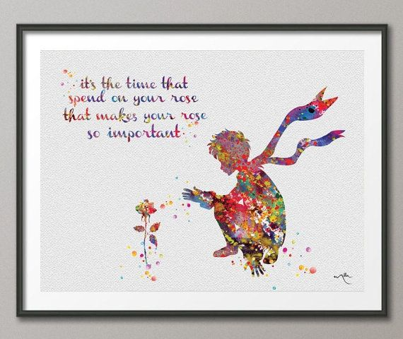Le Petit Prince watercolor  love love love this!