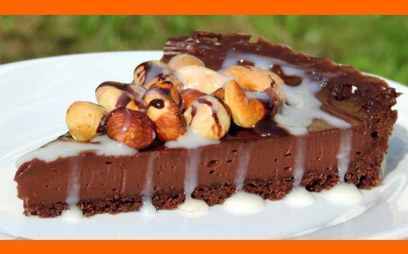 Nugátový čokoládový cheesecake (čískejk)