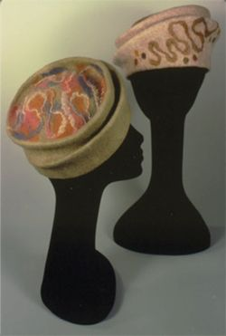 embellishing handmade felt hat - Google Search