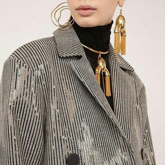 Trendy statement earrings