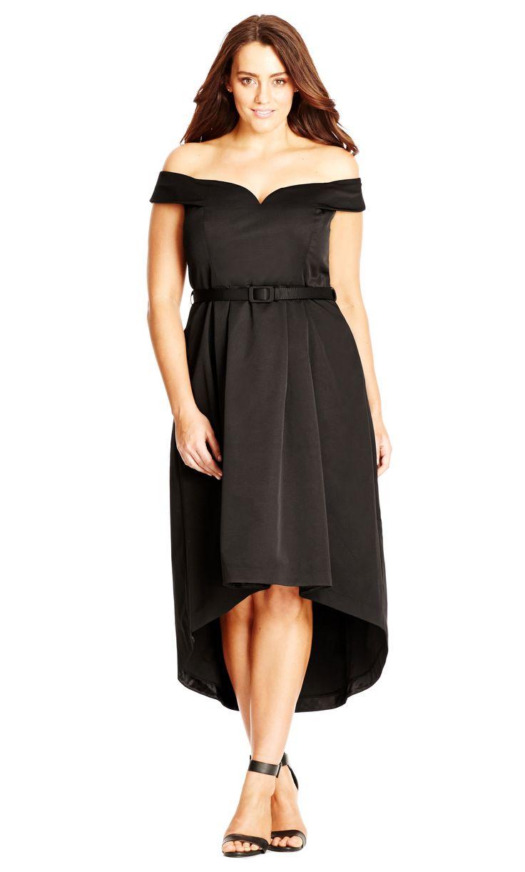 City Chic Wedding Dresses : City chic hi lo off shoulder dress women s plus size fashion