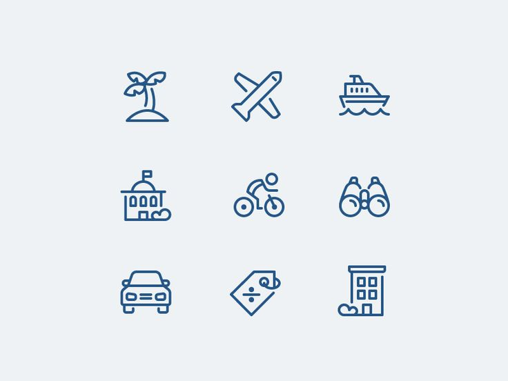 Excited to share some custom line work I put together for an online travel booking company.