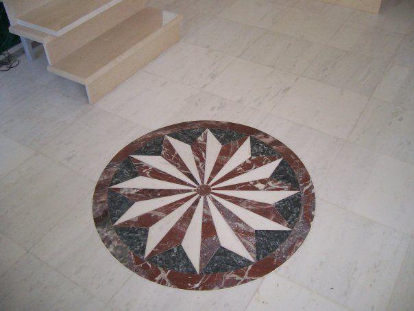 Floor design using Marbles of Thassos, Eretria and Livadias