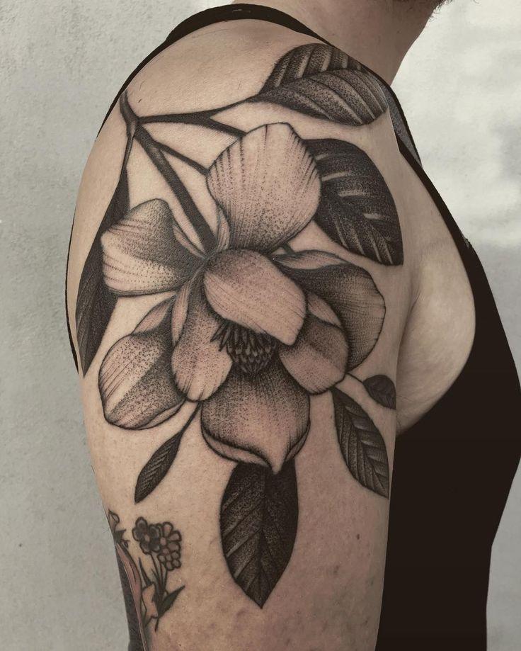 magnolia flower tattoo men - photo #11