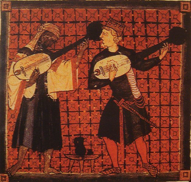 Christian and Muslim playing ouds 13th C. Cantigas de Santa Maria, by Alfonso X…