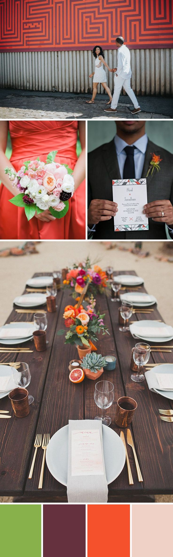 Wedding Colors: 10 Fresh & Hip Combos