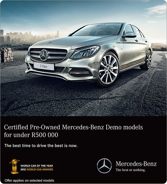 Certified pre-owned Mercedes-Benz demo models available for under R500 000.