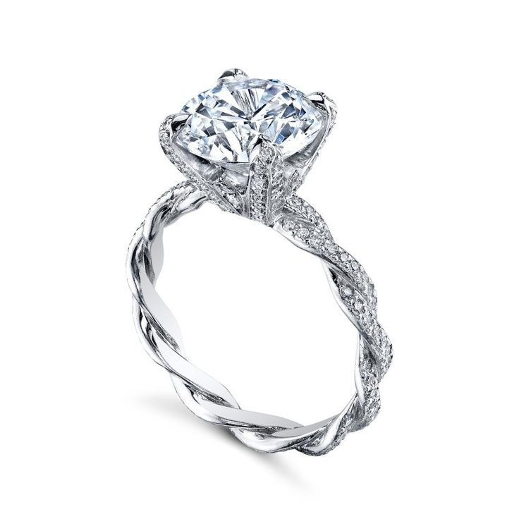Twisted Band Engagement Rings My Style Pinterest And