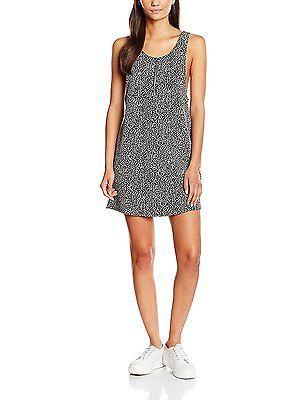 16, Black (Black Patterned), New Look Women's Leopard Zip Pinny Dress NEW