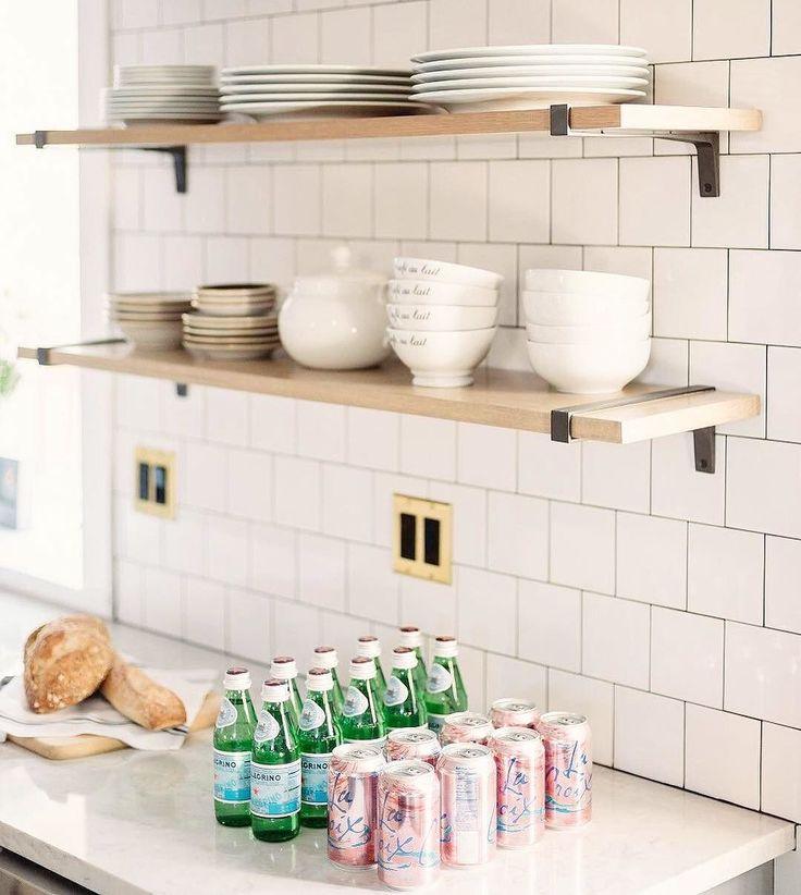 Sparkling Kitchen: Organized Open Shelving, Plenty Of Sparkling Water, Carbs