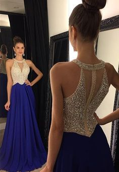 2016 Red Beading Halter Long Prom Dresses,Charming Prom Dress,Formal Evening Dresses,Handmade Prom Gowns