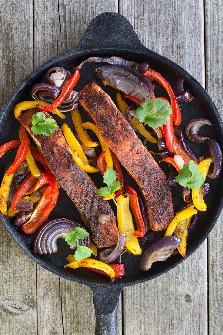 Cajun Salmon Fajitas – Dan330