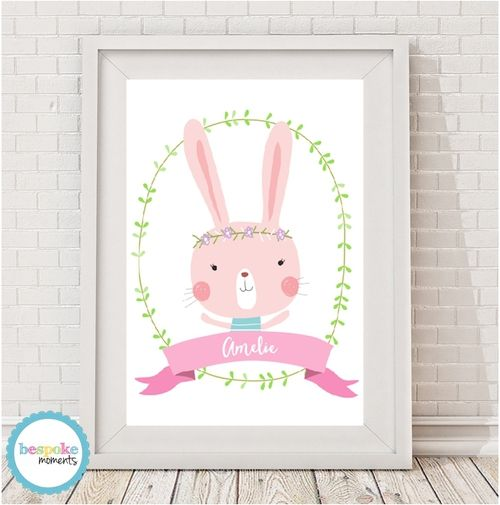 Lola Bunny Name Print by Bespoke Moments. Worldwide Shipping Available.