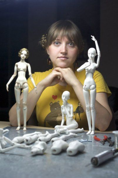 Marina Bychkova with her Enchanted Dolls