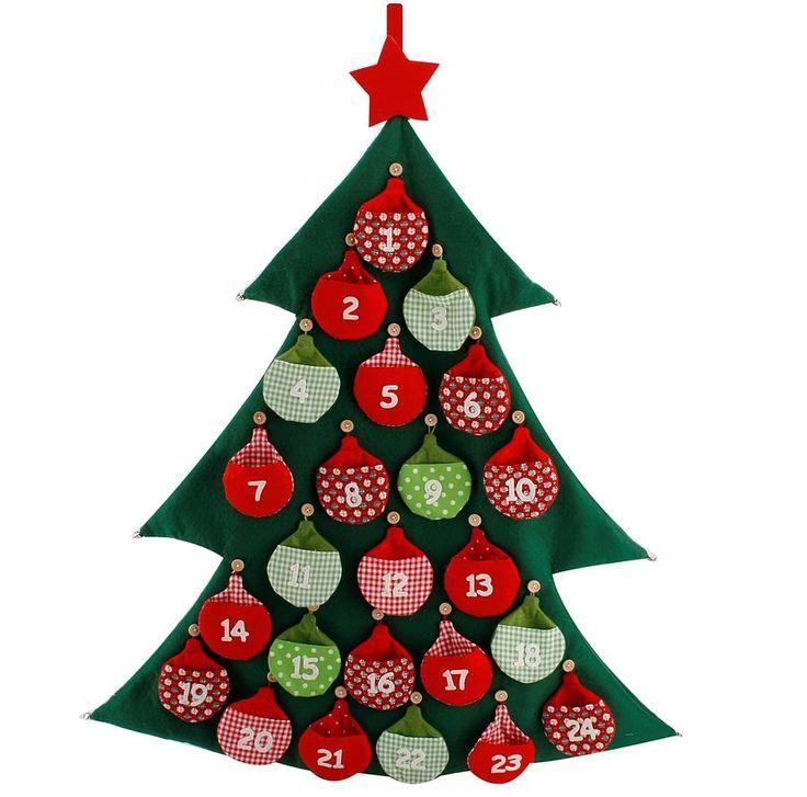 Felt Christmas Tree Advent Calendar: Felt Advent Christmas Tree