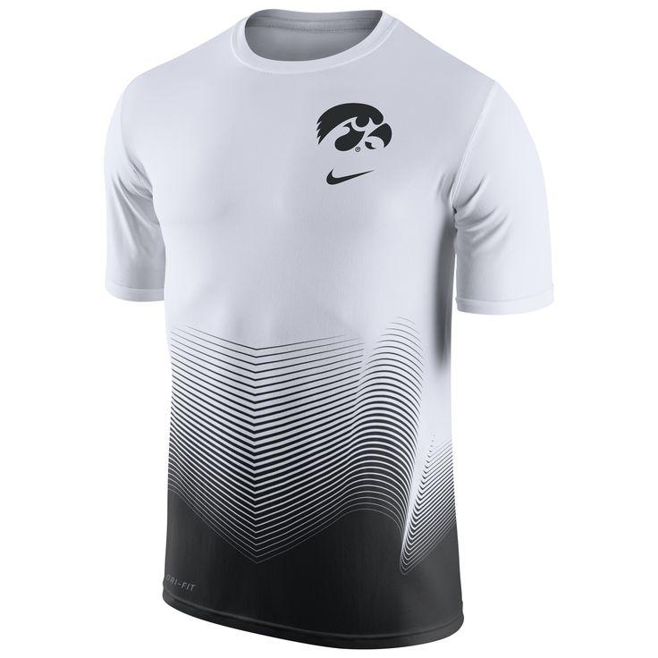 College Iowa Hawkeyes Nike 2016 Basketball Disruption Player Dri-FIT T-Shirt - White