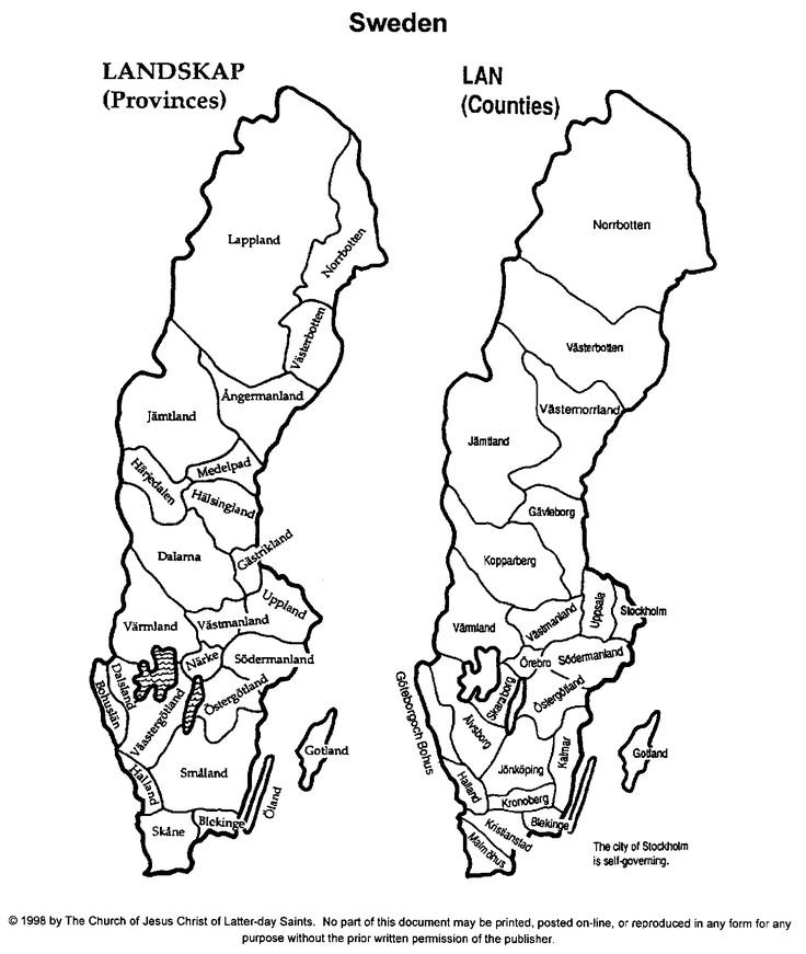 Swedish Map for genealogy research guidance.