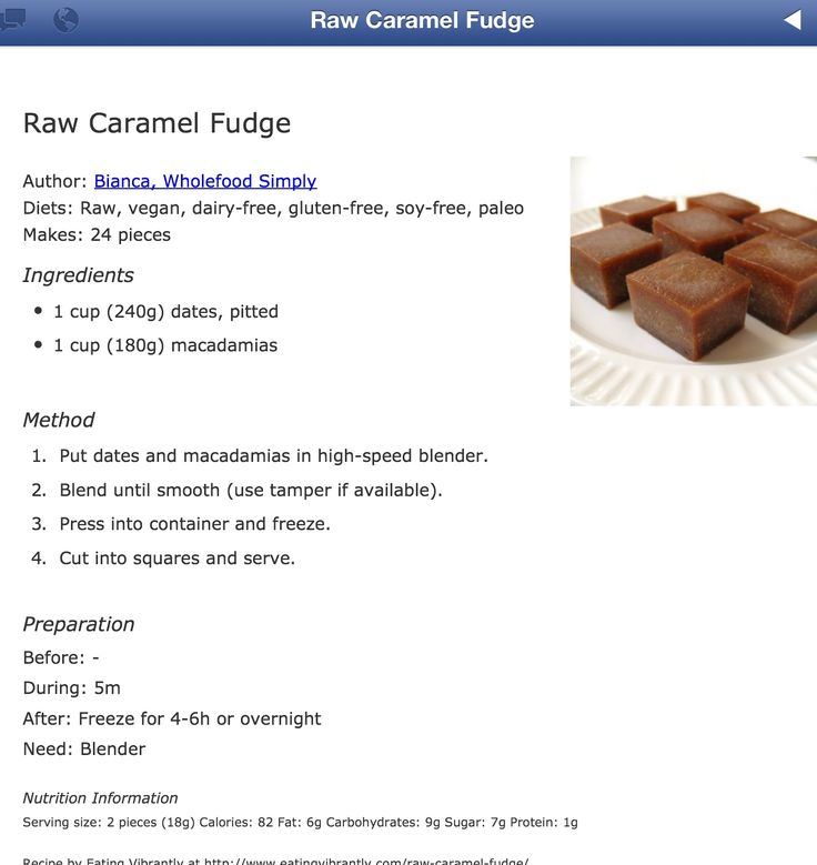 Raw Caramel Fudge