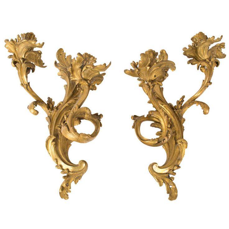 Pair Of Gilt Bronze, Napoleon III Sconces | 1stdibs.com
