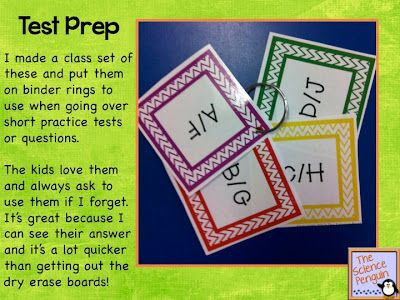 Multiple Choice Response Cards Freebie — The Science Penguin