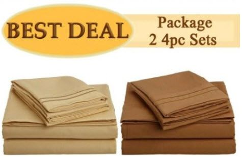 HOT! -  King Size Bed Sheets Sets from $25 (was $249) – Great Reviews! - http://yeswecoupon.com/hot-king-size-bed-sheets-sets-from-25-was-249-great-reviews/