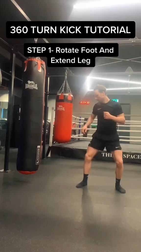 360 Turn Kick Tutorial Taekwondo Karate Muay Thai Kick Turn Tutorial In 2020 Martial Arts Workout Kickboxing Workout Martial Arts