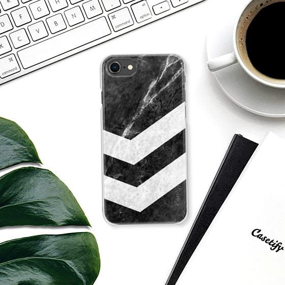 White on Black Striped Marble from @casetify - by Nicklas Gustafsson #iphone #iphone8 #iphonecase #marble #marblecase #case #blackandwhite #striped #stripe #stripes #casetify