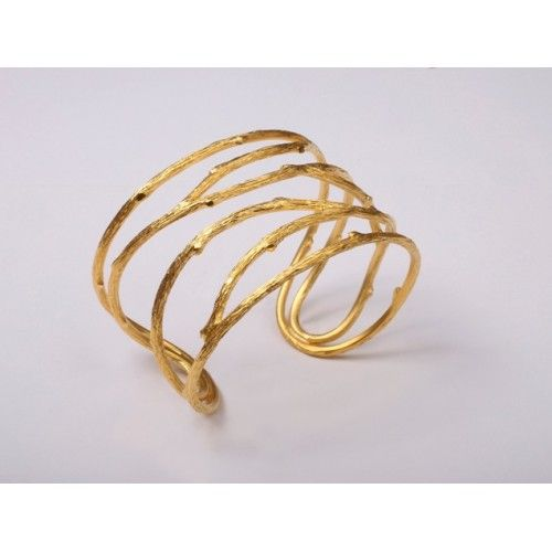 """""""Rough Lines"""" Bracelet: silver gold plated"""