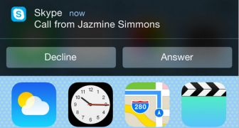 Interactive Notifications in Updated Skype for iOS 8 Lets You Reply to Calls and Messages from the Lock Screen